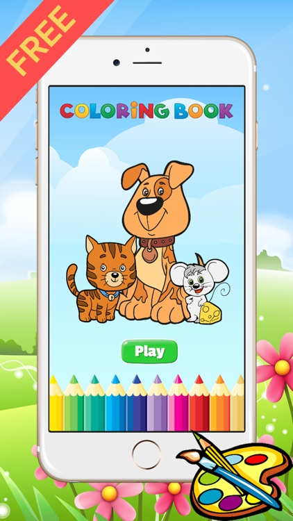 Dog & Cat Coloring Book - All In 1 Drawing Paint And Color Games for ...
