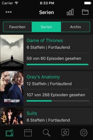 tvshows – Serien Tracker, verfolge deine Serien screenshot 1