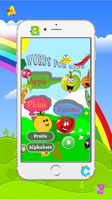 Fruits word English Language and Vocabulary for Free with Fun Easy LearnСкриншоты 1