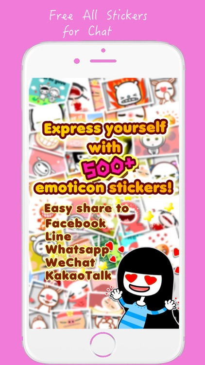 Sticker for chat, Free stickers for Zalo, WhatsApp, Viber, Messenger