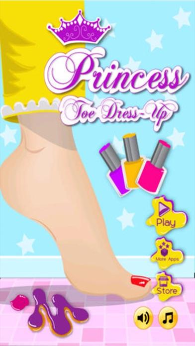プリンセスつま先ドレスアップ - 女の子の子供ホットファッション無料化粧ゲーム - おとぎ話の彼女のシンデレラや白雪姫を作りますのスクリーンショット1
