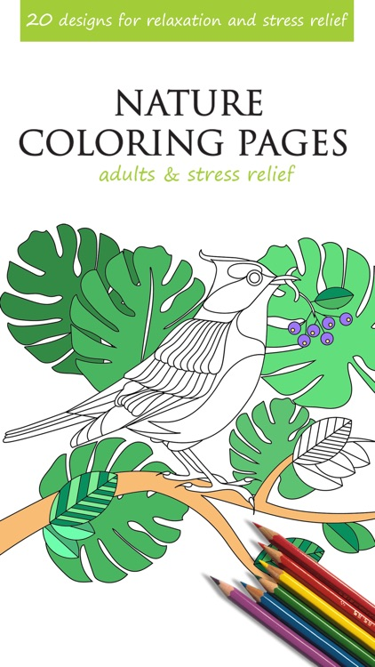 Nature Coloring Pages For Adults Stress Relief