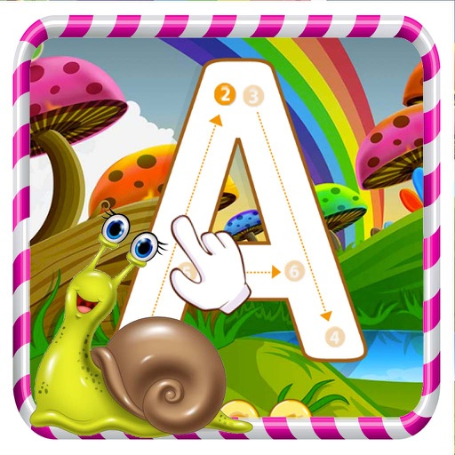 ABC Alphabet Tracing Coloring Educational Learning Game for kids iOS App