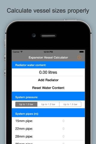 Expansion Vessel Calculator & Guide screenshot 1