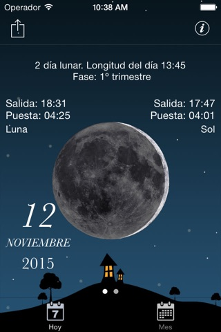 Moon phases calendar and sky screenshot 2