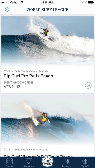World Surf League screenshot one