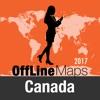 Canada Déconnecté carte et guide de voyage