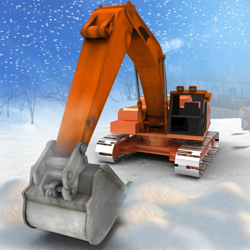Heavy Snow Excavator Simulator 3D – Extreme Winter Crane Operator and Dump Truck Driving to rescue your city from snow storm iOS App