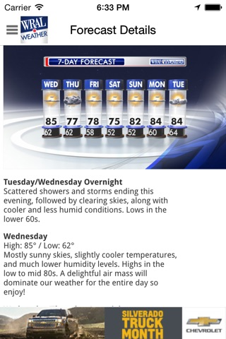 WRAL Weather screenshot 3