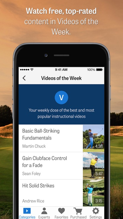 Golfplan: Golf Instruction + Coaching Screenshot