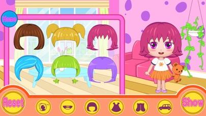 ベルのパーティーは、ヘアサロンをドレスアップ(Happy Box) 無料の子供を散髪ゲームのスクリーンショット2
