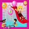 冒險遊樂場黨兒童遊戲與滑稽學習和搜索任務
