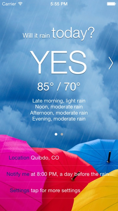 Will it Rain? [Pro] - Rain condition and weather forecast alerts and notification app