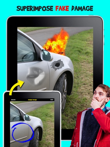 Screenshots of Damage Cam - Fake Prank Photo Editor Booth for iPad