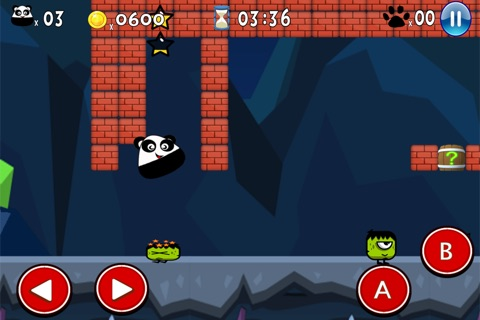 Super Pou Panda - Kung Fu Kick screenshot 3