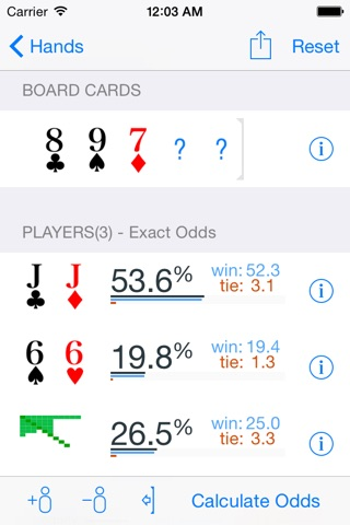 Poker Odds Pro screenshot 1