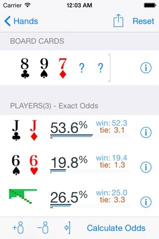 Poker Odds Pro screenshot 1