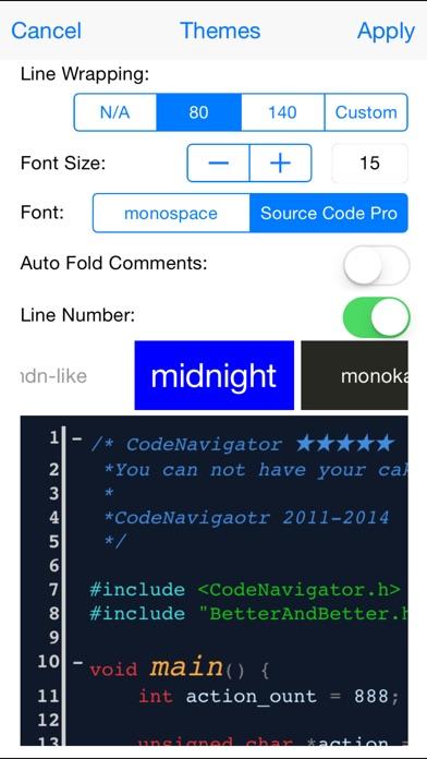 CodeNavigator for iPhone Screenshots