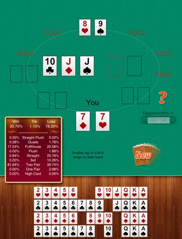 Craps table map