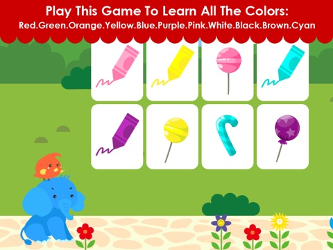 Matching Elephant - Early Learning Games For Toddler and Preschooler To Learn Numbers,Alphabet,Colors,Shapes,Basic Skills screenshot 2