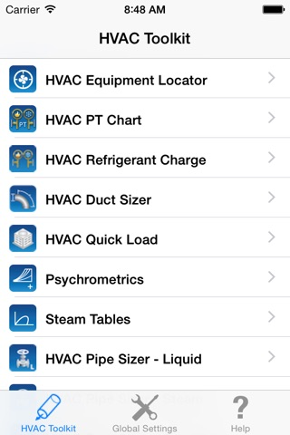 HVAC Toolkit screenshot 1