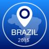Brasil Offline Mapa + Guia da Cidade Navigator, Atrações e Transportes