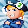 的計數兒童遊戲與警察:學會數數1-10