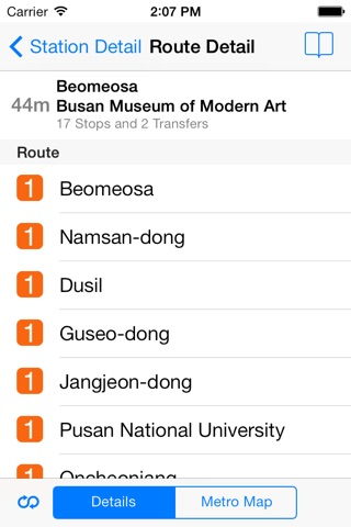 Busan City Metro - South Korean Subway Guide screenshot 3