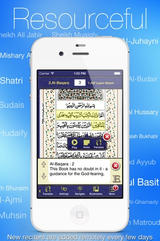 Quran Kareem - القران الكريم for iPhone and iPod screenshot 1