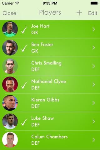 Lineup - Football Squad screenshot 2