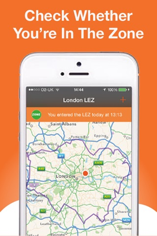 Screenshot of Low Emission Zone Check