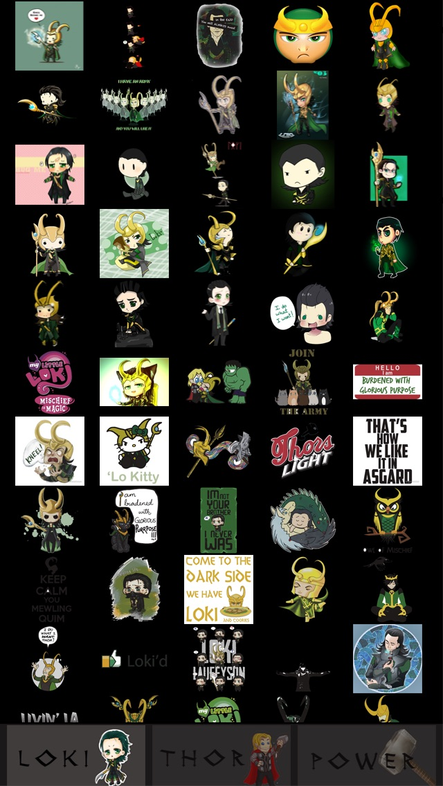 download Stickers for WhatsApp, Viber, Line, Tango, Kik, Snapchat & WeChat Messenges  - Thor and Loki Pro edition apps 1