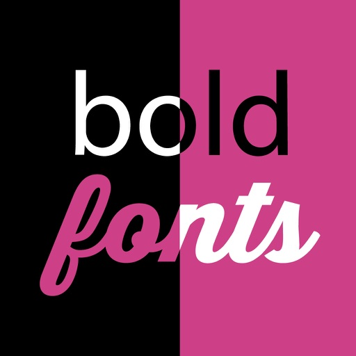 Double Tap with Bold  Fonts & Typography iOS App