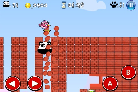 Super Pou Panda - Kung Fu Kick screenshot 4