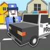 Blocky Police Car Simulator - Test your Parking & Driving Skills in Real Blocks City