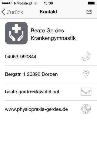 Beate Gerdes Krankengymnastik screenshot 3
