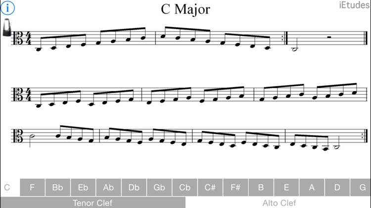 Major Scales Alto and Tenor Clef by Peter Edwards