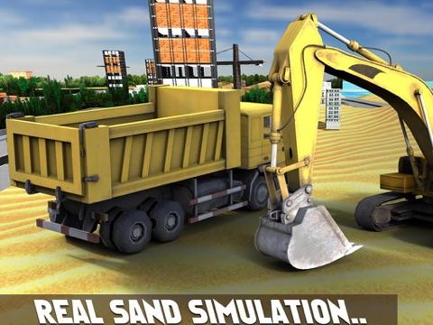 Скачать игру Песок экскаватор симулятор 3D - настоящий дальнобойщик и строительство моделирования игра