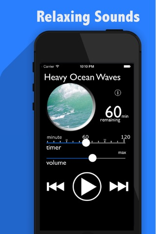 White Noise : Sleep Maker Relaxing Ocean Waves Sound screenshot 1