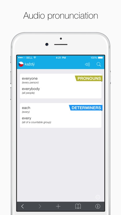Czech – English Dictionary Screenshots