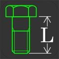 ねじ長さ計算 - ボルト、ナットの組み合わせから、ねじ長さを算出