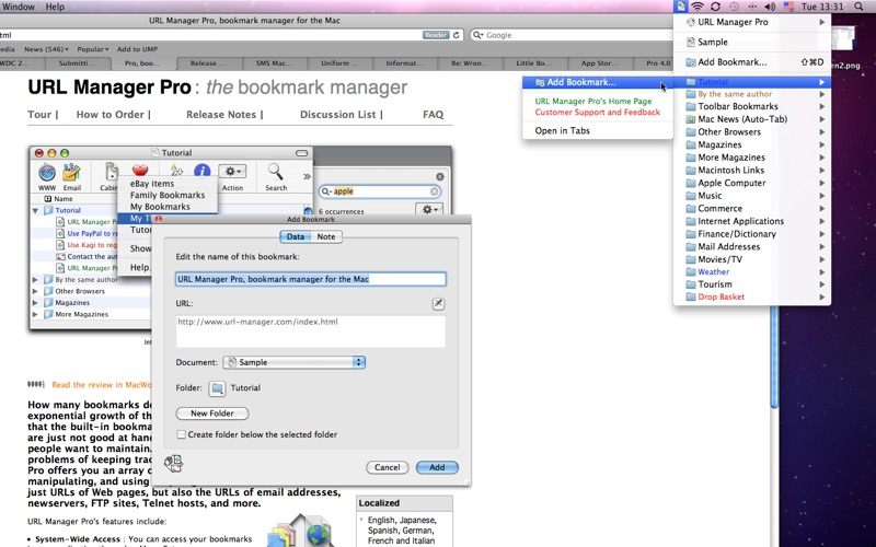 URL Manager Pro Screenshot