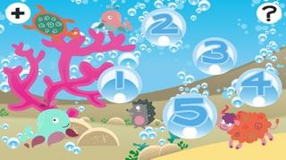 动物世界在一个美妙的动画孩子玩与学习游戏免费海中屏幕截图2