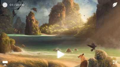 Screenshot #8 for Sunny ~ Calm wave & ocean sounds to Sleep Relax Meditate on the beach with rain and sea birds