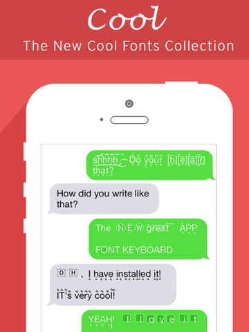 Screenshots of Fonts Keyboard, Art Fonts, Cool Font for Chat for iPad