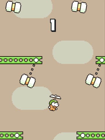 Screenshots of Swing Copters for iPad