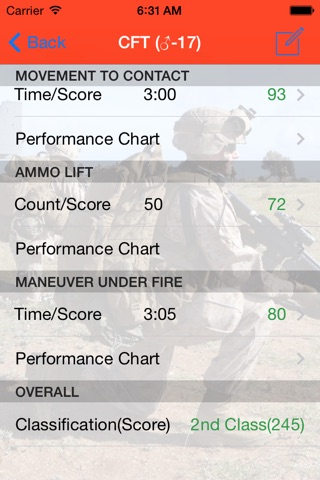 Marine Corps Fitness Calc screenshot 3