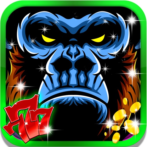 Jungle Wild Gorilla Slots: Win the king golden jackpot bonus with a free casino game iOS App
