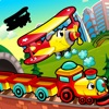 A Busy City Shadow Game: Learn and Play for Children with Vehicles