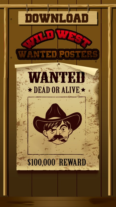 Wild West Wanted Poster Maker - Make Your Own Wild West Outlaw Photo Mug Shots screenshot four